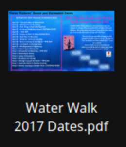 2017 Water Walk Dates
